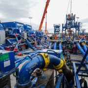 Hydrofracking operation at Biliaivska-400 well